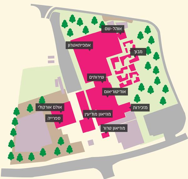 מפת המרכז למורשת המודיעין