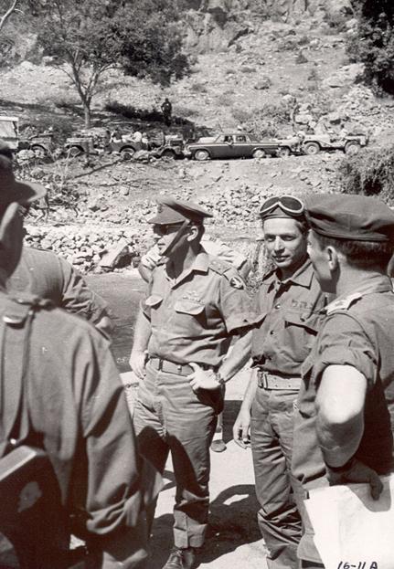 """יוני 1967- ביקור הרמטכ""""ל רא""""ל יצחק רבין במלחמת ששת הימים בלווית הקמ""""ן דני אגמון בגזרת ג´נין"""