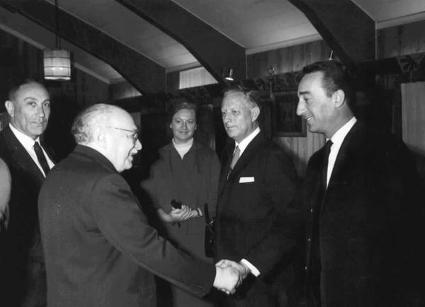 """קבלת פנים ממלכתית שהתקיימה בבית הנשיא זלמן שזר בירושלים לאסירי """"עסק הביש"""""""